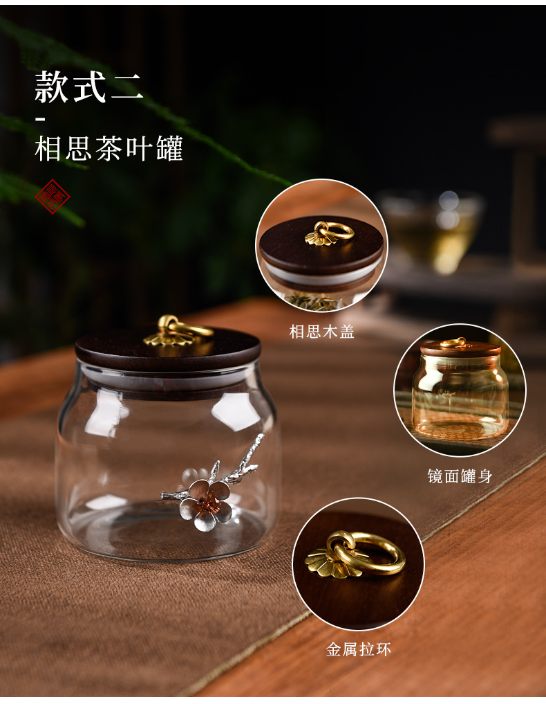 Ceramic story home store as cans pu - erh tea caddy fixings glass with Japanese seal small decals POTS