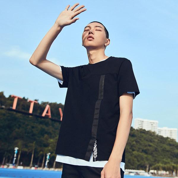 Cabbeen 卡宾 18年夏季新款 纯棉 印花男式短袖T恤 天猫优惠券折后¥89包邮(¥169-80)