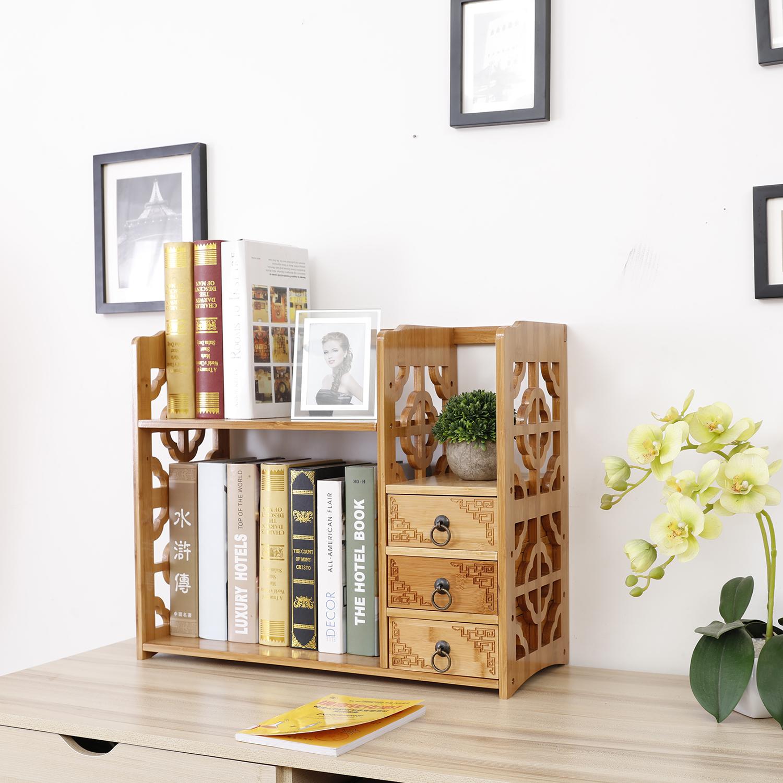 Usd 34 48 Table Small Bookshelf Solid Wood Simple Office