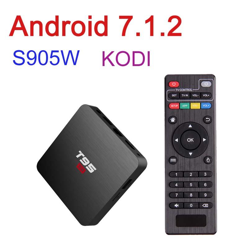 T95 S2 Android 7.1.2 Smart TV BOX Quad C