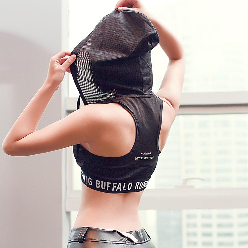 Mới mùa xuân sinh viên thể thao áo ngực nữ chạy sốc kích thước lớn không có thép vòng vest loại đồ lót thể dục có nắp - Đồ lót thể thao