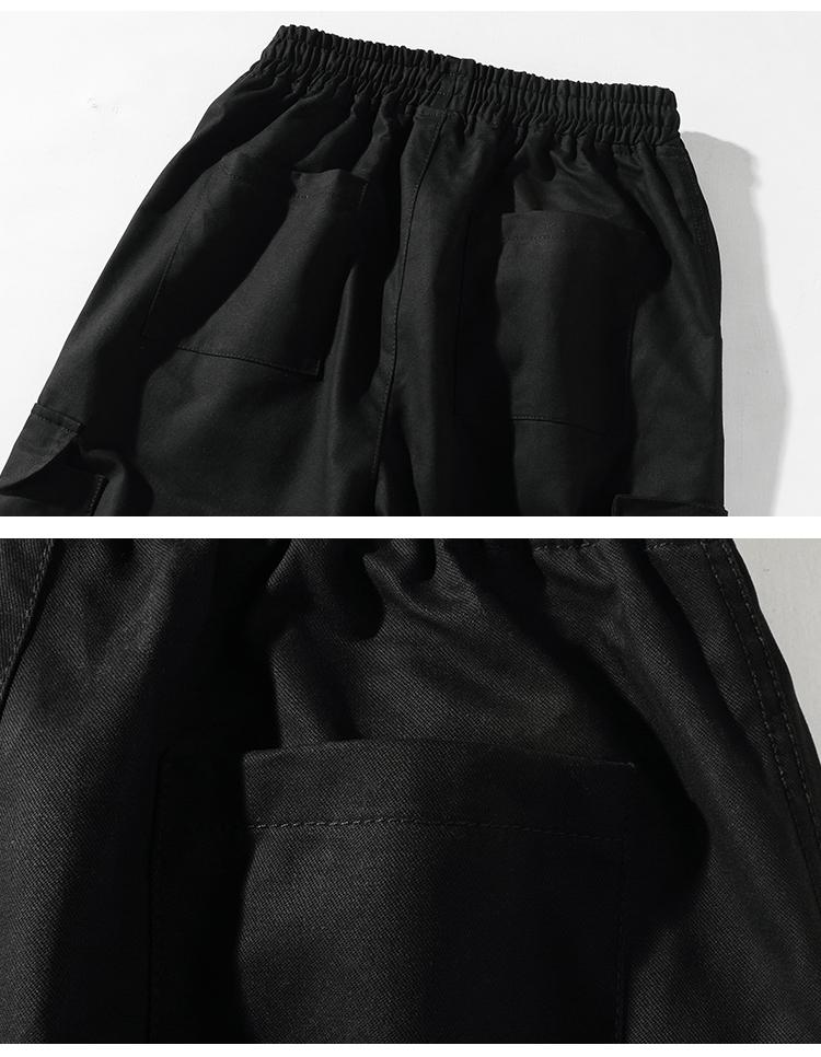 秋冬日系纯棉休闲宽松刺绣工装纯大码长裤男p65#1908