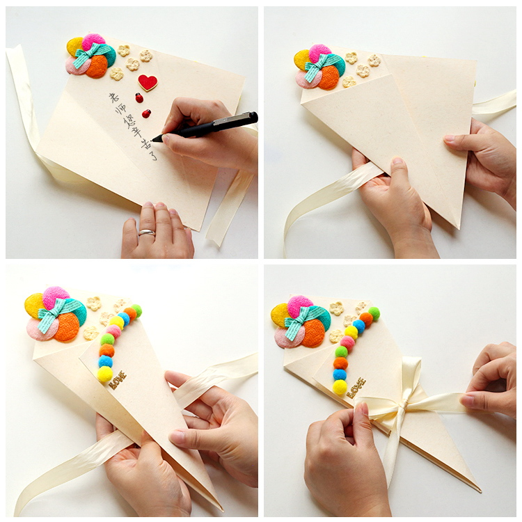 Net Red Explosion Models Shaped Three Dimensional Greeting Card Diy Handmade Creative Send Girlfriend Primary School Teacher Thank Birthday