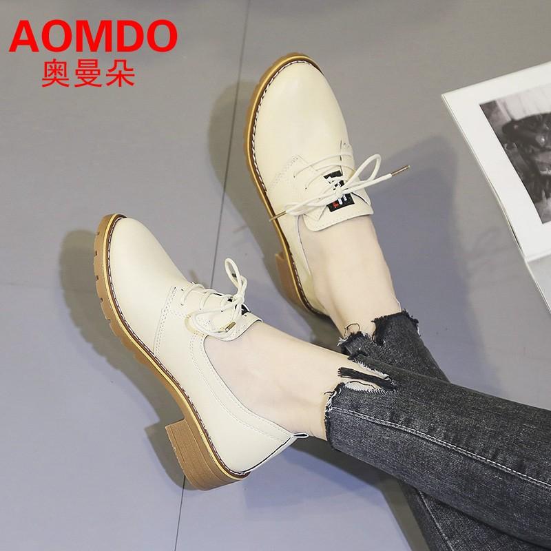 【抖音同款】新款英伦风复古小皮鞋