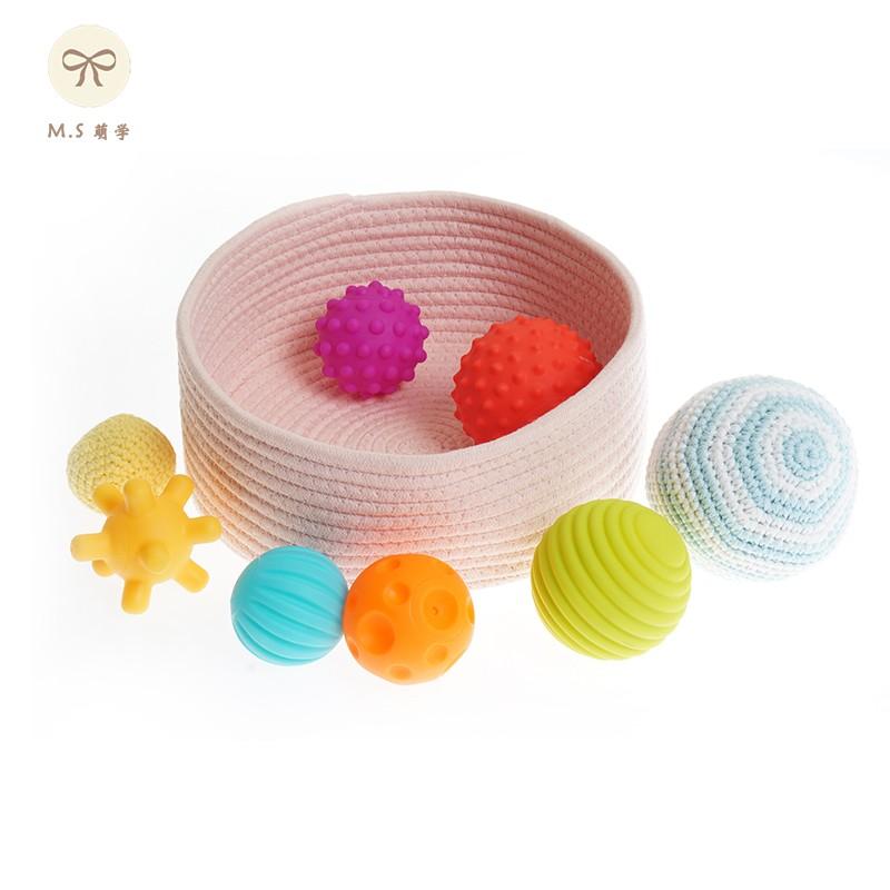 萌学教育婴儿手抓球多纹理感知触觉球益智早教抚触教具触感球玩具