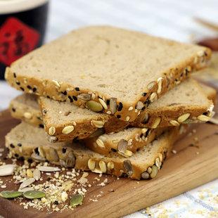 全麦面包饱腹营养健康早餐吐司整箱600g
