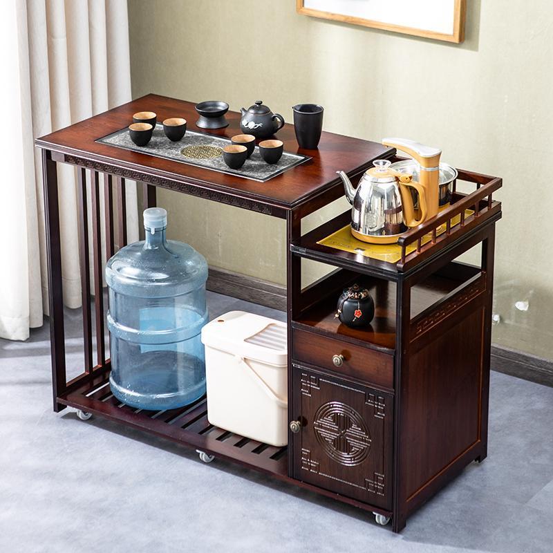 移动茶桌家用小茶台客厅茶几实木阳台泡茶车