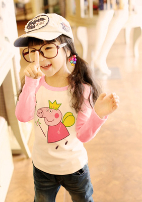 Every day special children's clothing girls autumn children's long-sleeved T-shirt children's cotton autumn clothing girls coat Qiu Yi
