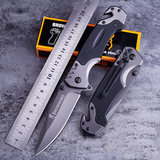 Outdoor folding knife Swiss knife for self-defense military sergeant sharp knife, butterfly knife fruit knife portable player