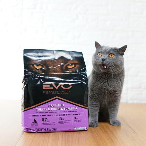 萌宠儿evo火鸡及鸡肉无谷全猫粮幼猫成猫粮 6.6磅3kg