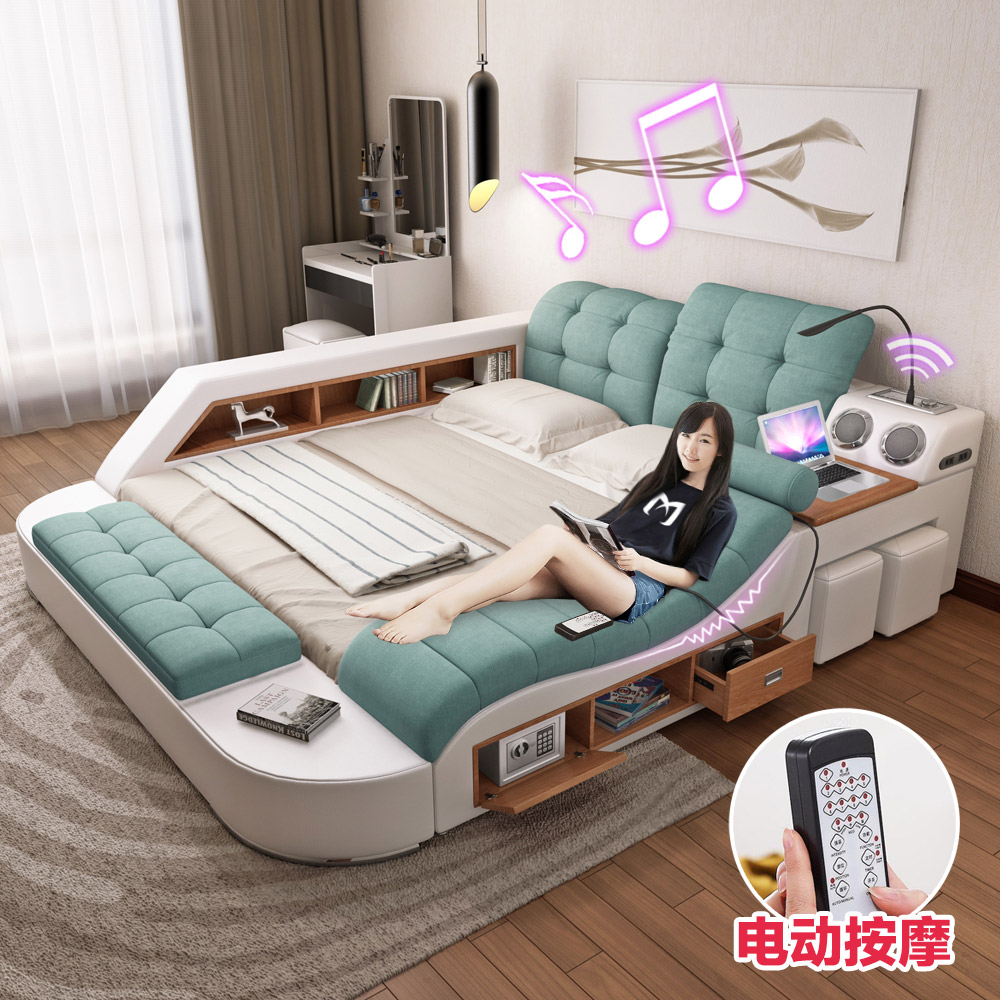 Usd massage tatami fabric bed fabric bed master for Futon e tatami