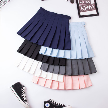 42agent Autumn and winter Harajuku pleated skirt high waist half body net red with the same style vibrating college wind student female ulzzang skirt - tmall.com Tmall