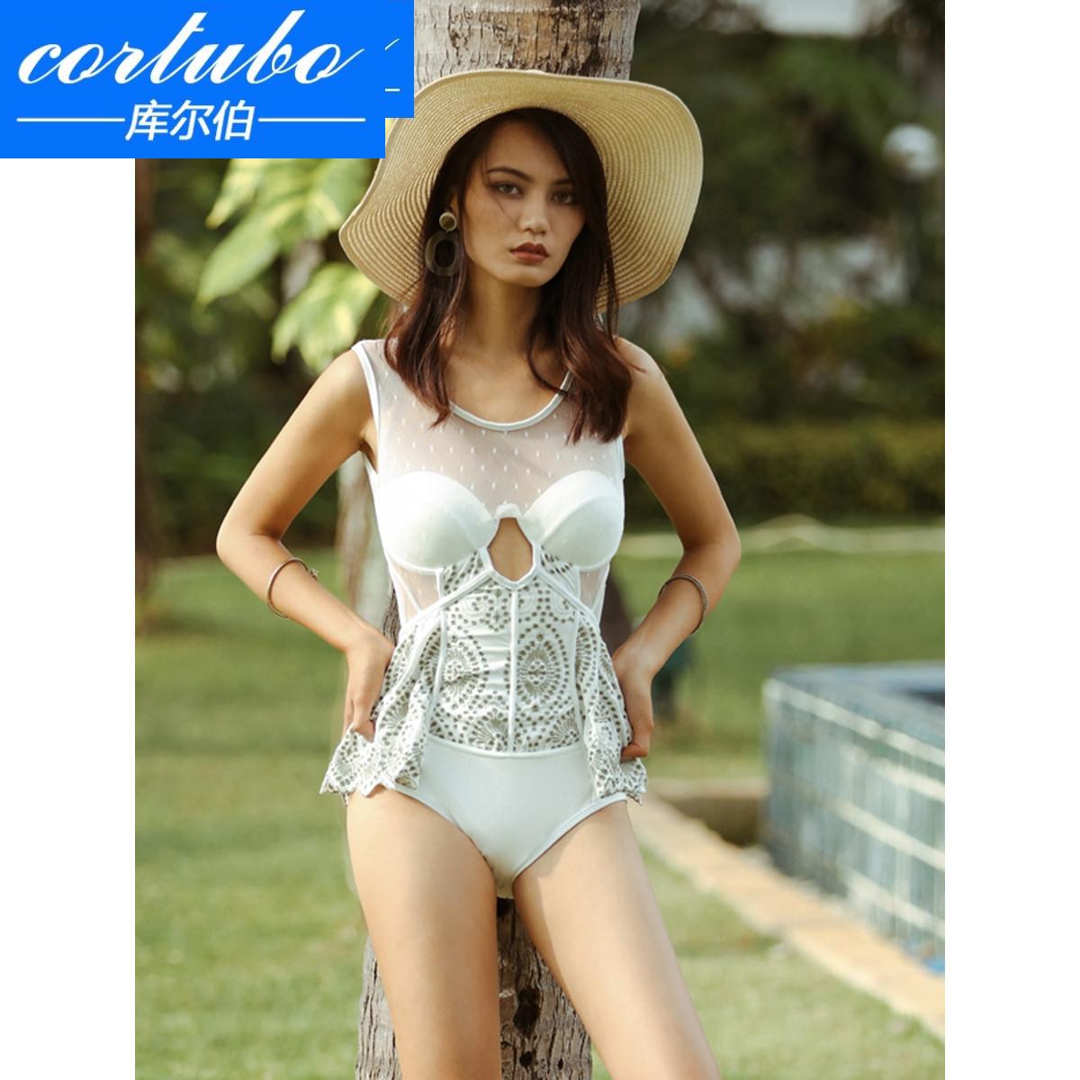 CORTUBO áo tắm nữ mới một mảnh bikini hở lưng gợi cảm che bụng thon gọn và tụ tập bơi lội suối nước nóng Hàn Quốc - Bộ đồ bơi One Piece