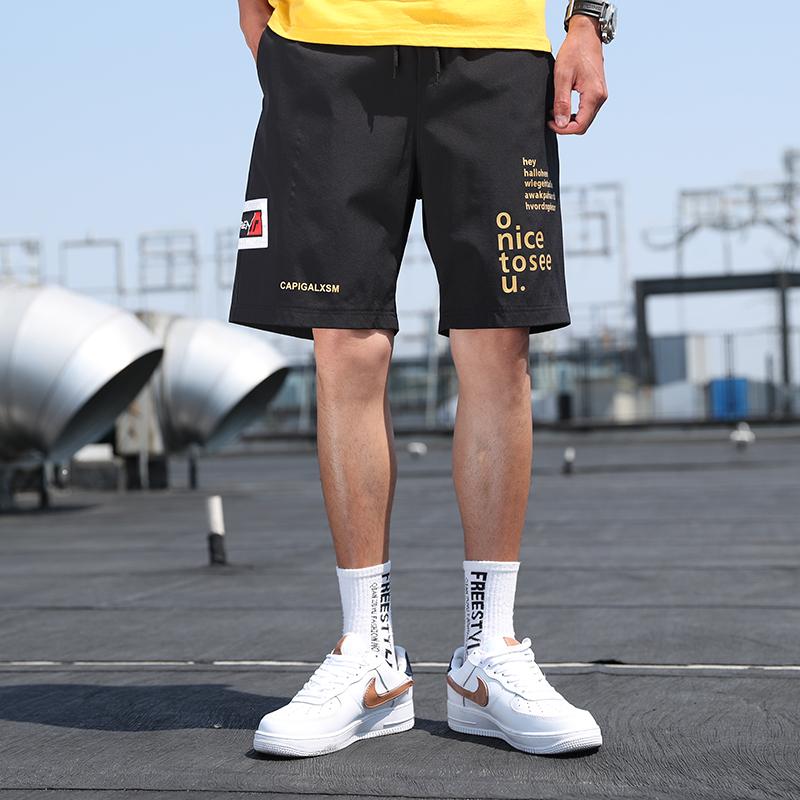 禾瑟 冰丝速干短裤男休闲宽松五分裤