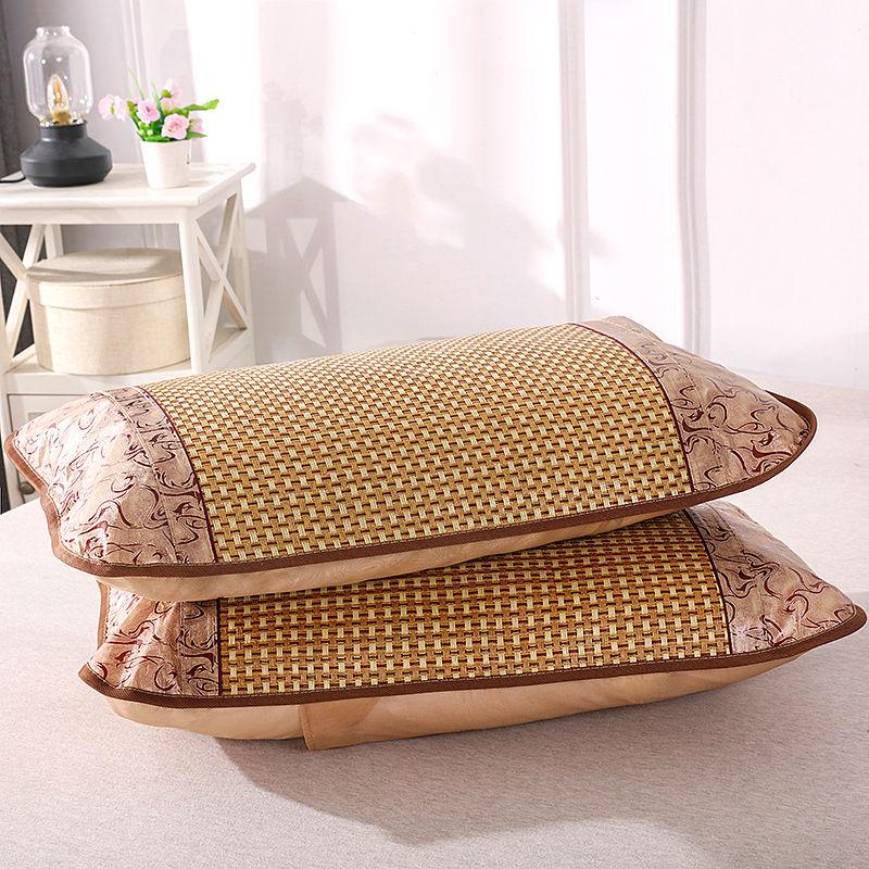 320夏季凉席枕套藤枕芯套单人冰丝枕头套夏天儿童枕席片一对