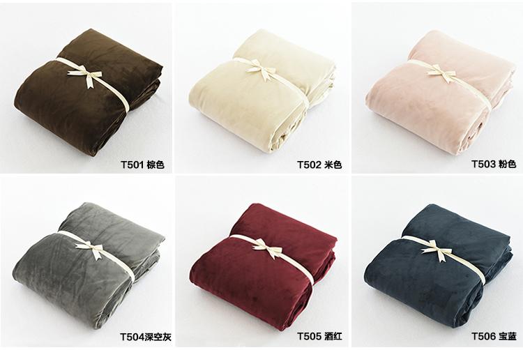 无印天鹅绒四件套短毛绒秋冬季加厚床笠床上用品被套珊瑚绒法兰绒详细照片