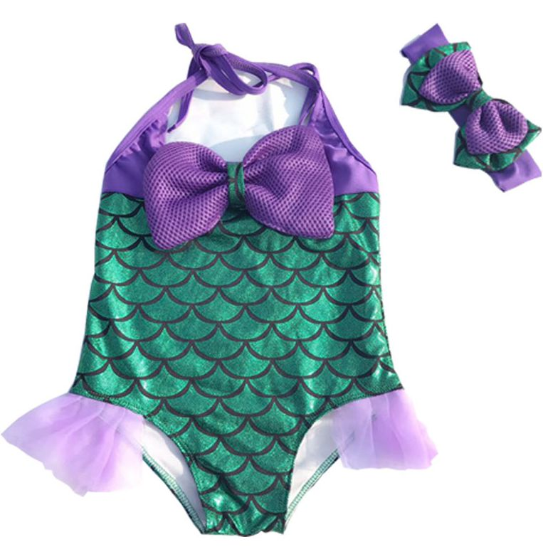 2019 Hot Ariel Childrens Mermaid Tail Cosplay Kids For Girls Split Swimwear Swimmable Bikini Bathing Strong Resistance To Heat And Hard Wearing Mother & Kids