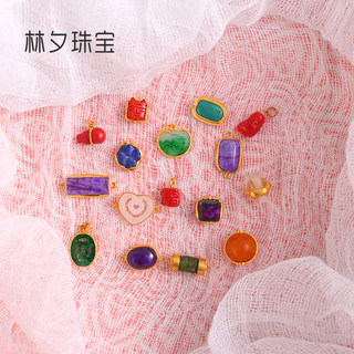 24k package gold color treasure white jade shanshan jade tourmaline green pine southern red Shu Ju Lai Jin
