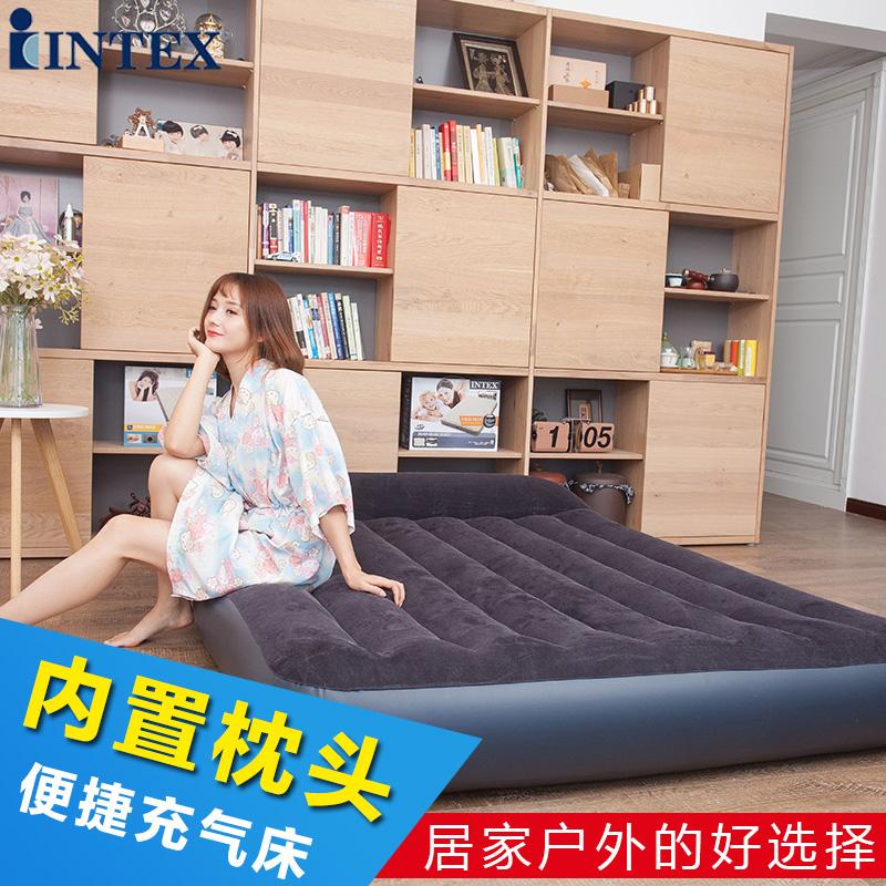 Intex надувной подушка двойной толстый воздушная подушка лист человек увеличить домой матрас на открытом воздухе портативный кровать полдень остальные кровать