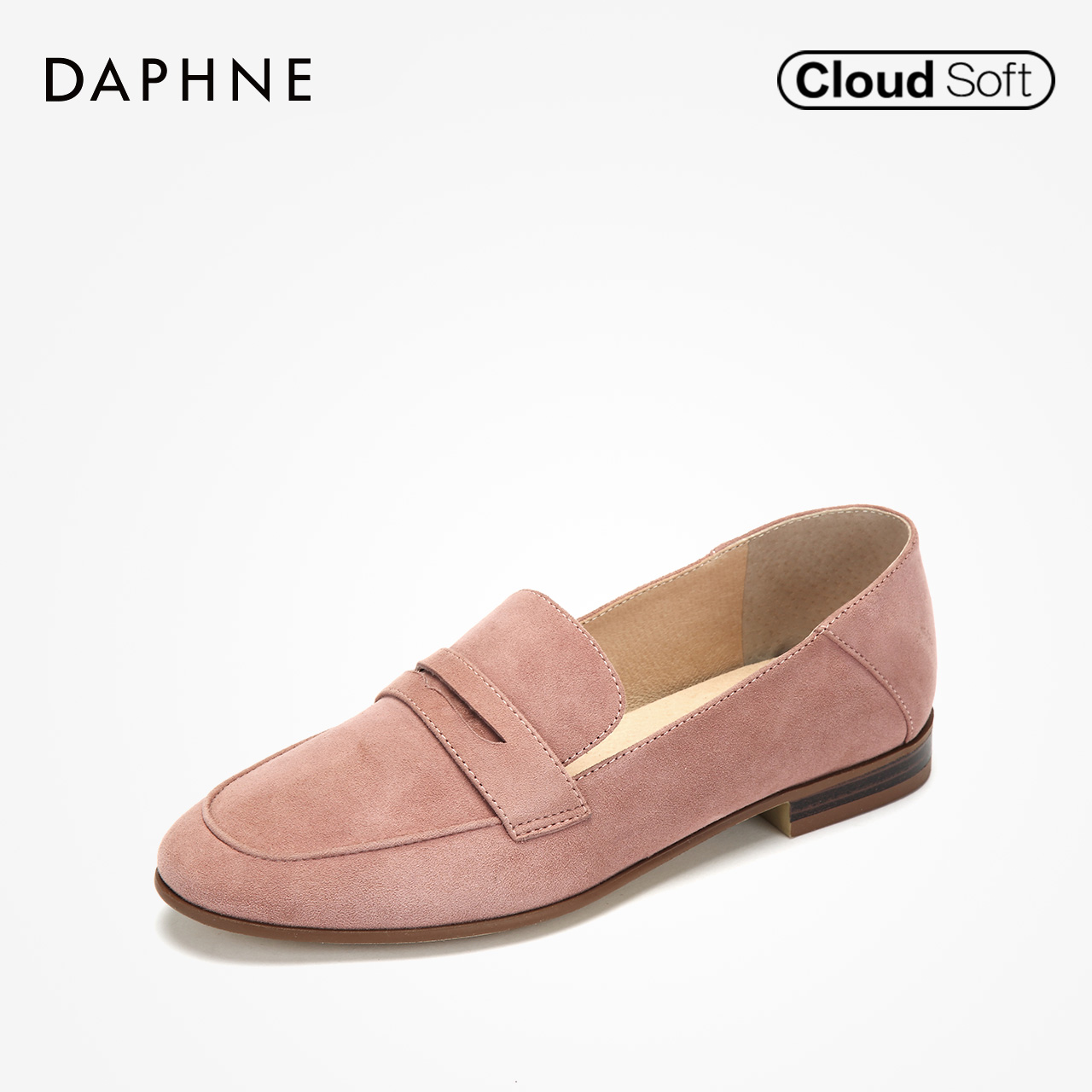 Daphne/达芙妮女鞋秋季新款休闲鞋懒人鞋女低跟乐福鞋