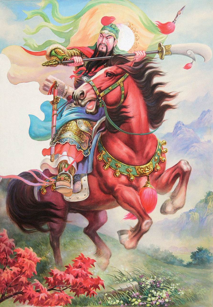 精准印花法国正品dmc十字绣 客厅画 人物系列 骑马关公大版