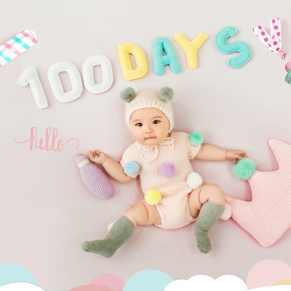 韩版背景布毯宝宝百日服装出租赁百天照道具婴儿百岁图片