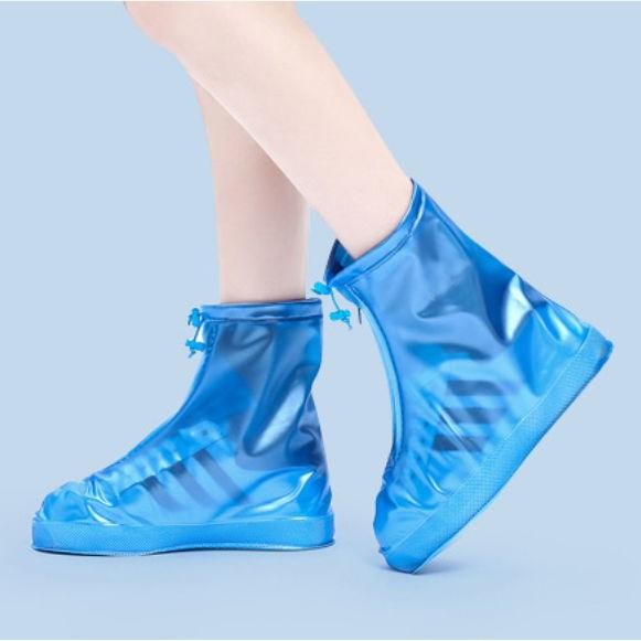 【升级防滑加厚款】百搭防水鞋套户外旅游防雨鞋套男女学生雨靴套