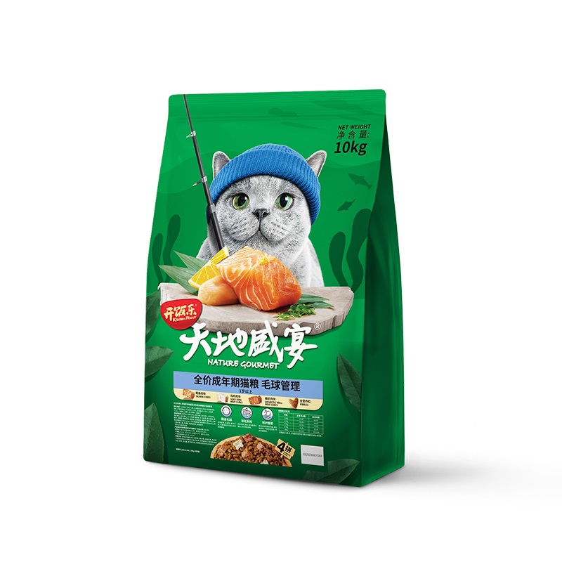 开饭乐四拼鲑鱼成猫粮增肥10kg