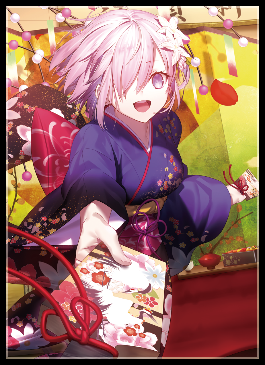 anime sister set fate fgo mathieu girls new year kimono c93 venue limited card deck set