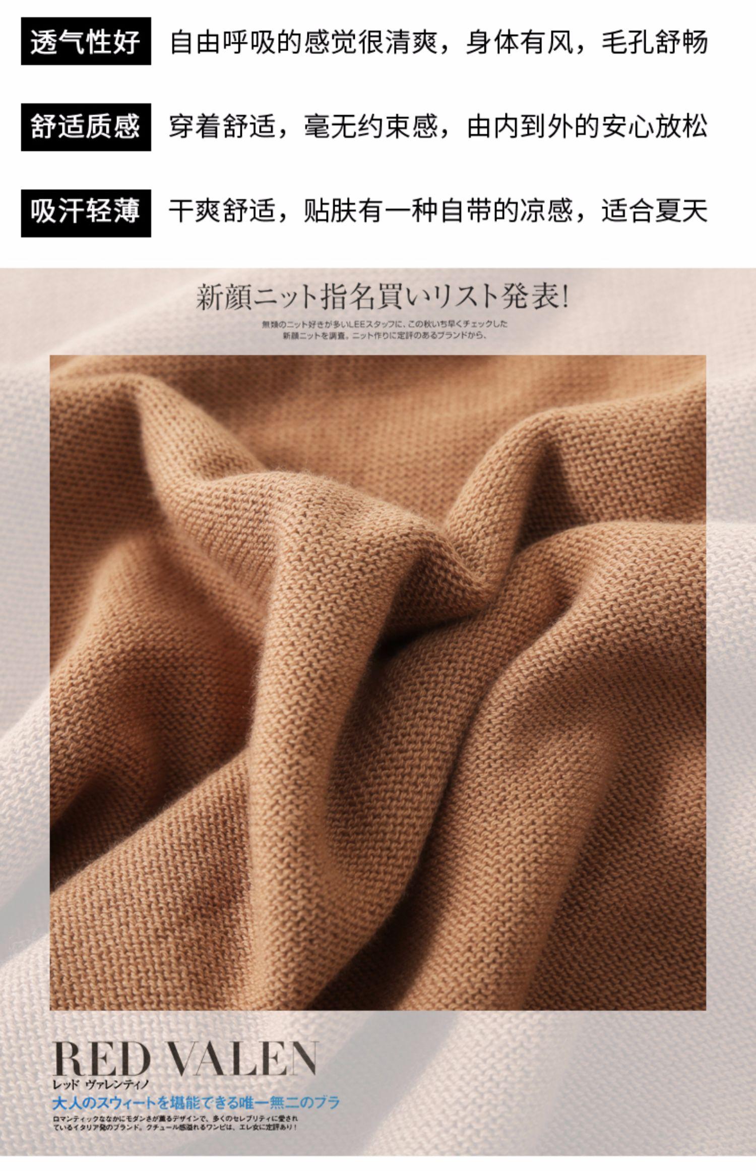 夏季新款!韩版宽松V领短袖针织衫女 4