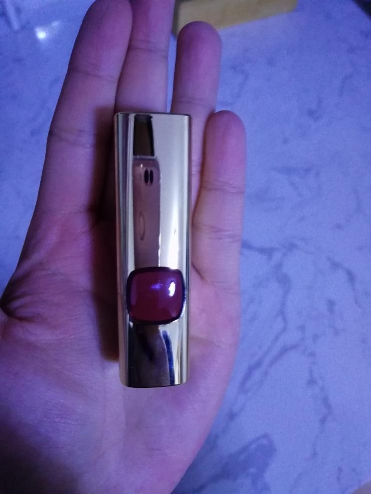欧莱雅热卖色号RB301金闪红枫色口红试色