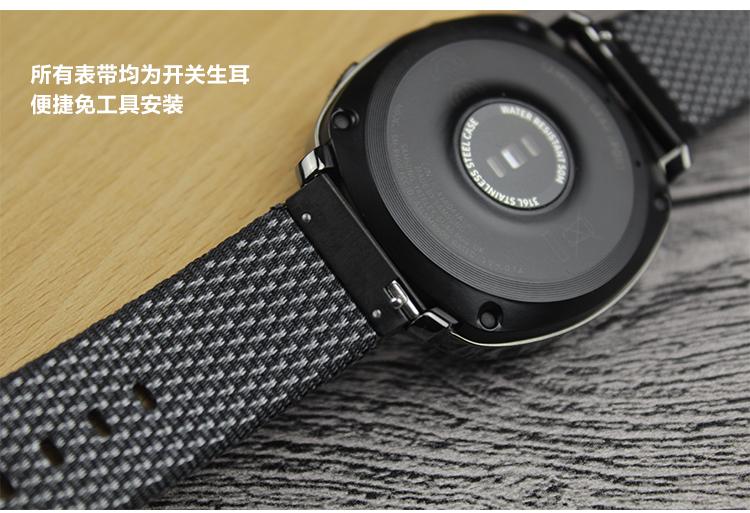 限時優惠 佳明 Garmin ApproachS40 錶帶 運動手錶錶帶 格紋尼龍帆布 20MM 替換腕帶 智能手錶帶 運動型錶帶