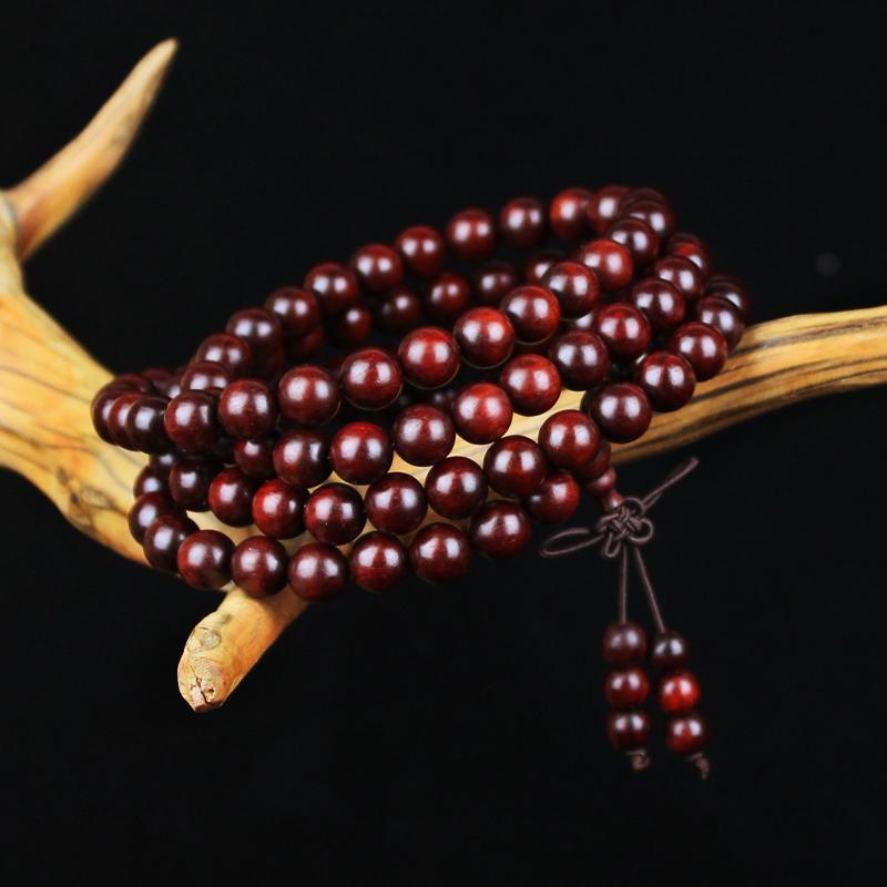千古缘 印度小叶紫檀手串108颗,送给有缘人礼物