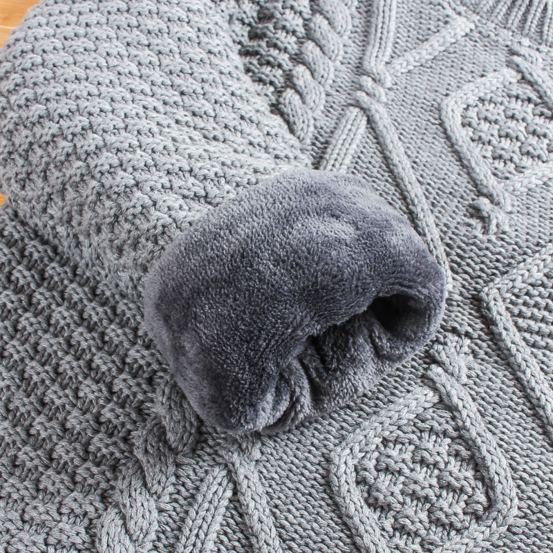 加绒加厚冬季男士毛衣中领针织衫保暖男装半高领韩版打底衫上衣服