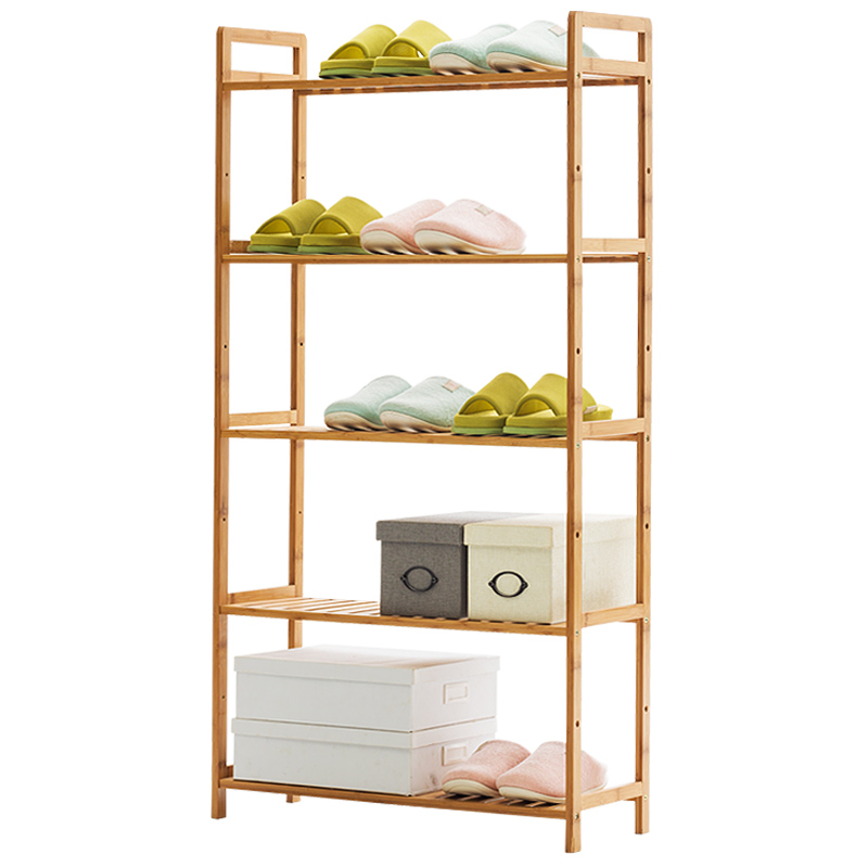 Trojans Simple Shoe Multi-layer Economical Household Assembly Shoe Stand Bamboo Storage Shoe Cabinet Dustproof