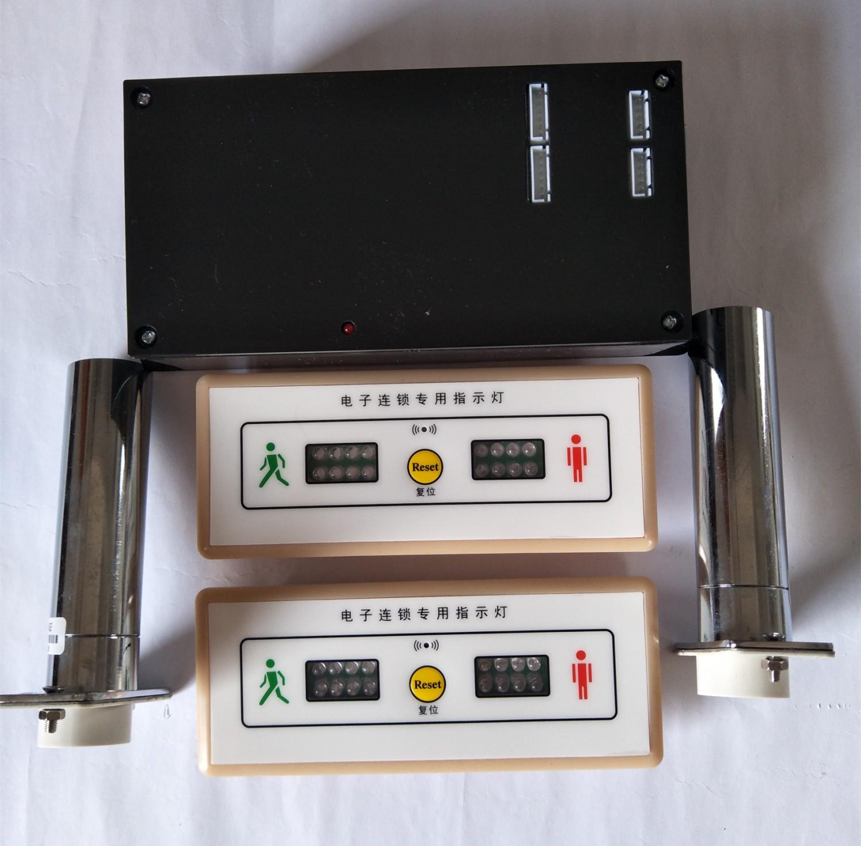 彩钢门互锁,电子联动锁,带指示灯开门(图1)