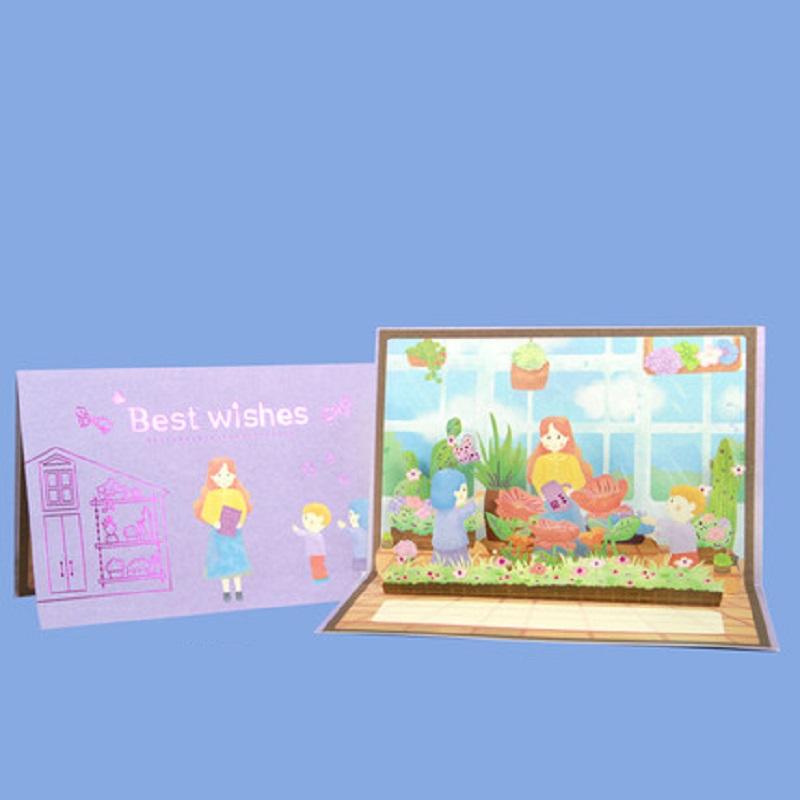 教师节贺卡感恩立体3d成品卡片高档精美祝福送老师礼物花束卡片