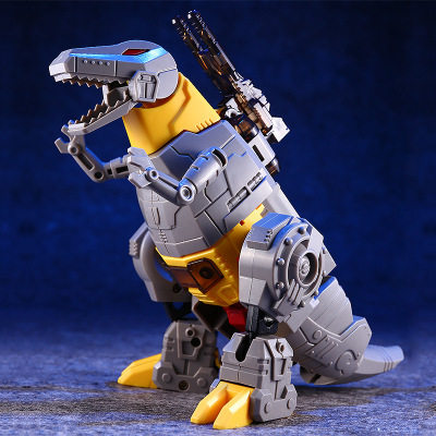 Spot Dinosaur Steel Coof Dorm King King 5 Manual Assembled Car Robot Collection Cool Treasure Model