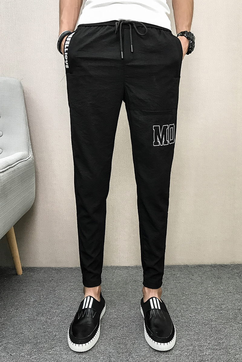 Best Chinese Wholesale Clothing Websites Jitter With The Same Spiritual Social Group Summer Thin Letter Nine Points Pants, Men's Pants, Haren Pants