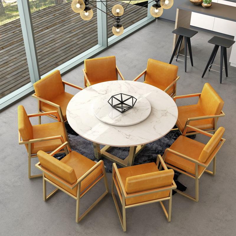 12-02新券北欧大理石餐桌椅组合家用吃饭桌子