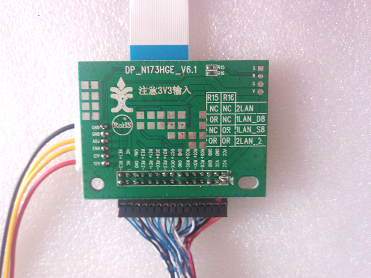 EDP driver board LVDS to EDP adapter board with 30pin0 5 pitch screen line  and accessory wire