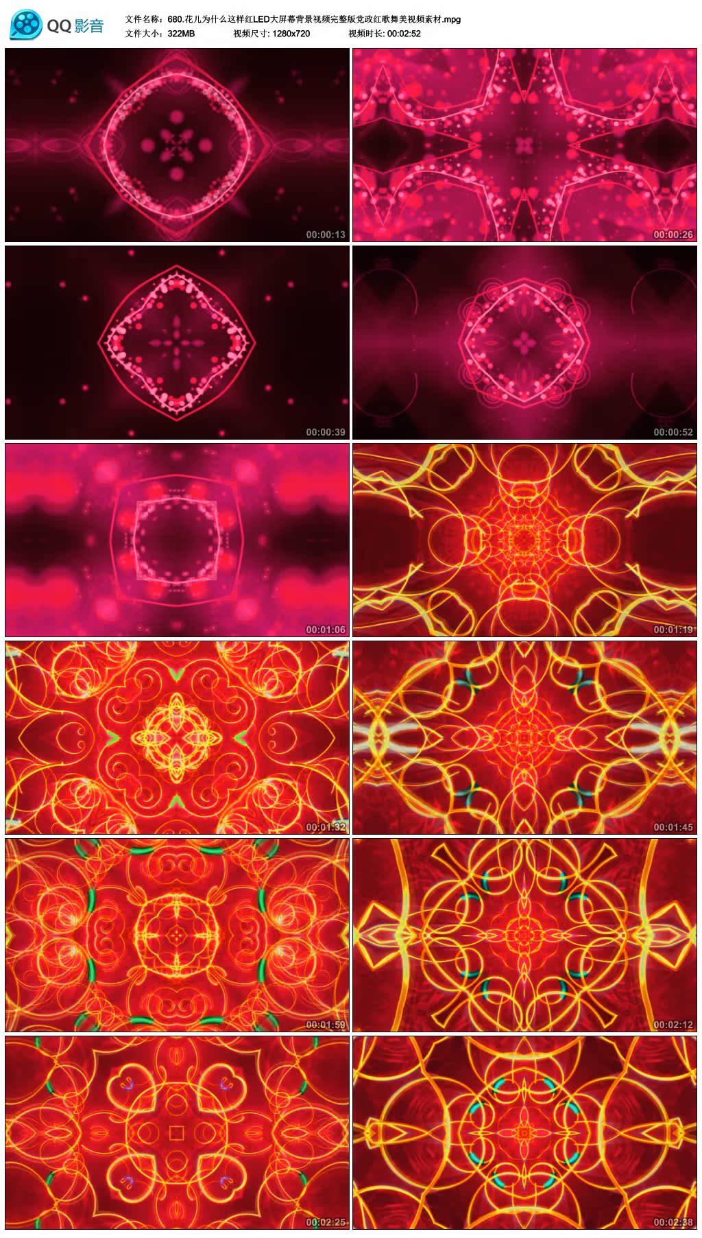 傣族孔雀舞舞蹈视频_花儿为什么这样红 LED大屏幕视频素材 新疆异域风情 红歌舞美 ...