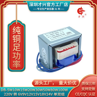 Power transformer 5W10W15W20W30W50W80W100W220V380V to 12V24V6V9V18V15V