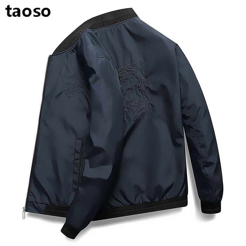 TAOSO\\\/淘搜休闲男2019秋季新款圆领帅气时尚休闲上衣外套夹克