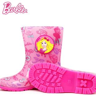 芭比儿童小童女防滑公主雨鞋