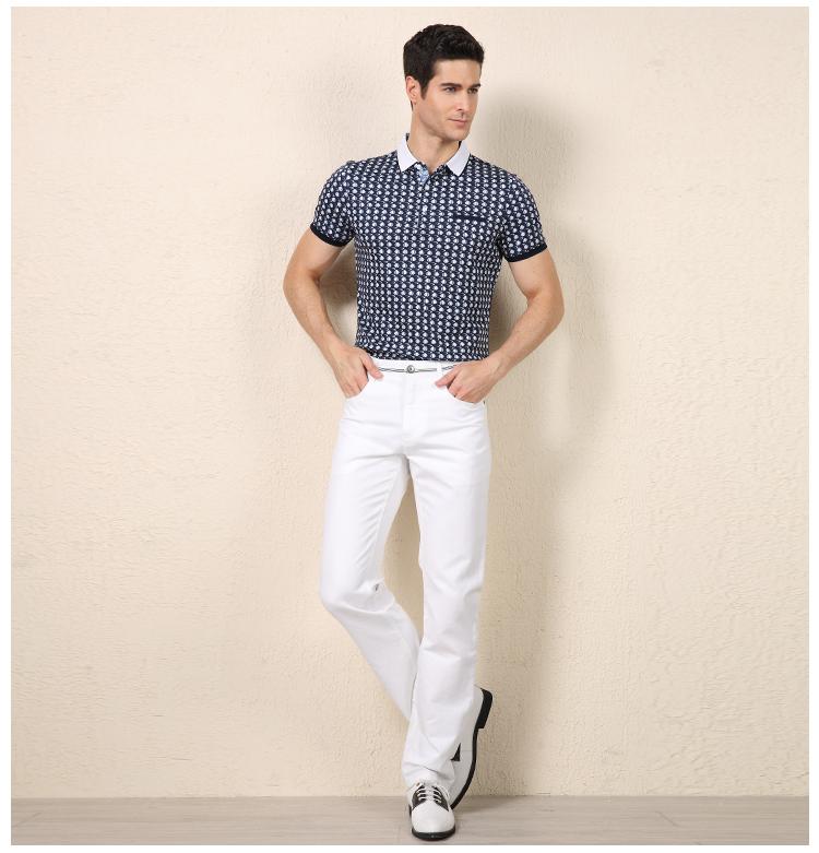 Hoàng tử Rồng T-Shirt nam mùa hè làm bóng bông kinh doanh ve áo POLO áo sơ mi in Mỏng người đàn ông giản dị của ngắn tay T-Shirt Áo thun nam Hàn Quốc
