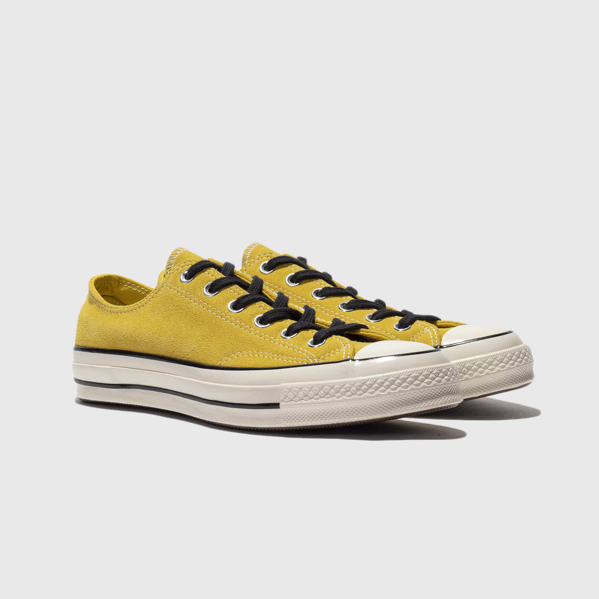 CONVERSE 1970S Suede Suede Yellow Low Top Converse 70S Giày vải tiêu chuẩn Samsung 163760C - Plimsolls
