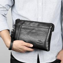 宝谛袋鼠男士手包真皮大容量手拿包商务男包牛皮软皮钱包手抓包潮