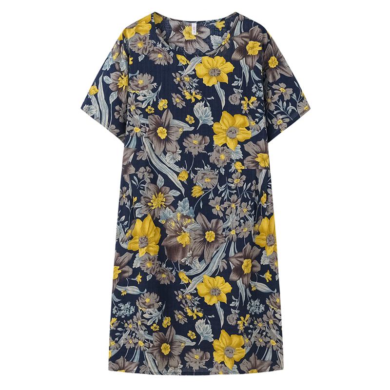 Váy cho phụ nữ trung niên mùa hè đầm mới trung niên và cao tuổi - Quần áo của mẹ