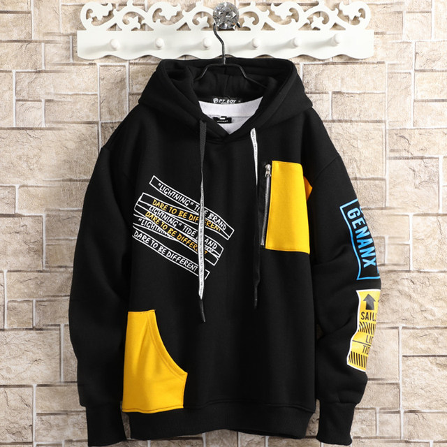 New Autumn Loose Long-sleeved Students Men/'s Youth Couples Sweats Pullover Tops@